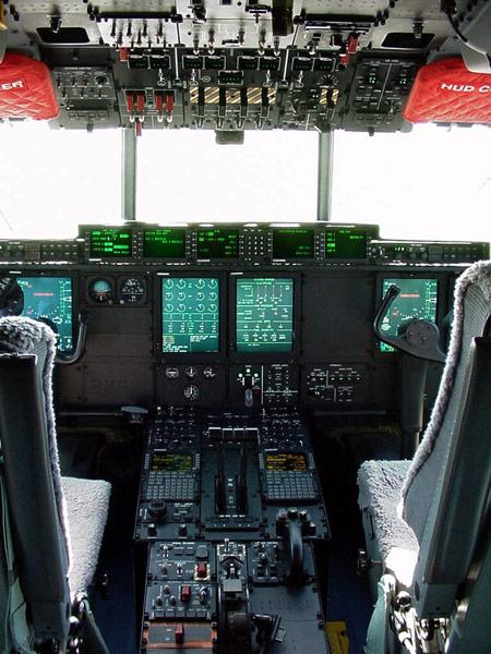 Panel de instrumentos del Hercules WC-130J
