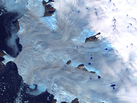 Bahía de Baffin, Groenlandia - imagen satelital