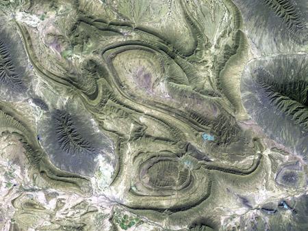 Sierra Madre Oriental - Coahuila, México - imagen satelital