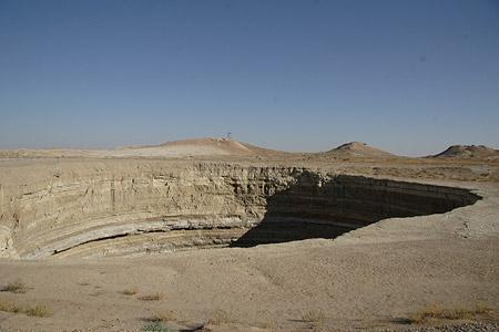 Pozo de Darvaza, Turkmenistán - La Puerta del Infierno