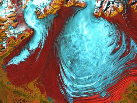 Glaciar Malaspina - Alaska, Estados Unidos - imagen satelital
