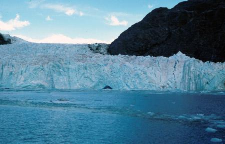 Glaciar Muir (Alaska) en 1980