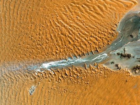 <br /> Parque Nacional Namib-Naukluft, Namibia - imagen satelital