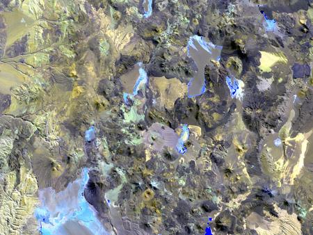 Volcanes Andinos, Argentina/Chile - imagen satelital