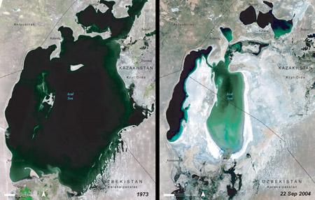 Mar Aral - Uzbekistán, Kazajistán (1973-2004)