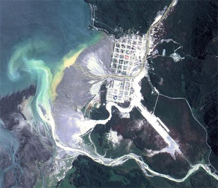 Chaitén, Chile - Imagen satelital de diciembre de 2008