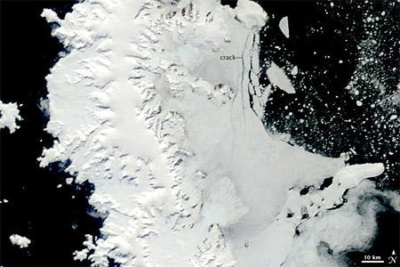 Península Antártica - imagen satelital del 2 de enero de 2009