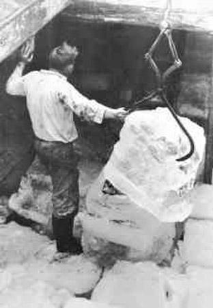 Producción de hielo en el siglo XIX