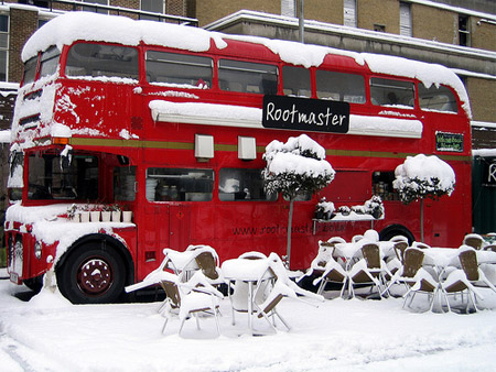Temporal de nieve en Londres