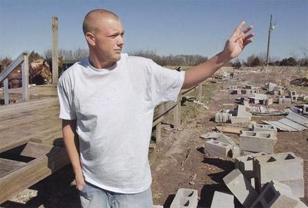 Matt Suter, el muchacho que fue arrastrado por un tornado