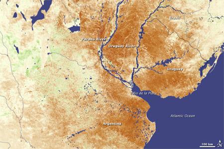 Situación de la sequía en la zona central de la Argentina