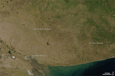Imagen satelital - Sur de Buenos Aires - Febrero 2008