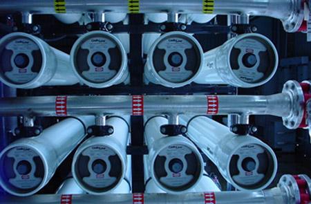 Membranas de ósmosis inversa de una planta desalinizadora
