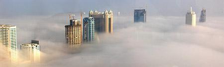 Niebla sobre Dubai'¦ ¿o Dubai sobre la niebla?
