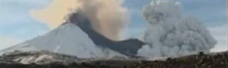Erupción del volcán Llaima - abril de 2009