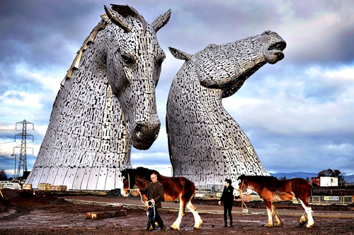 Completion Of The World's Largest Of Equine Sculptures...FALKIRK