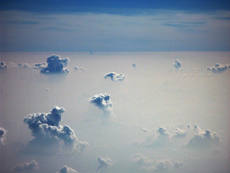 Nubes desde la alta atmosfera