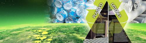 listones de plastico reciclados