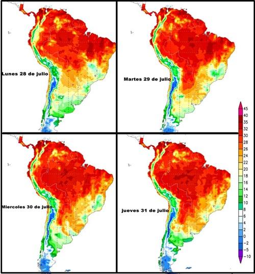 Temperatura Mapas