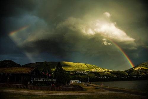 Descarga y arcoiris