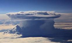 Cumulonimbus desde el aire