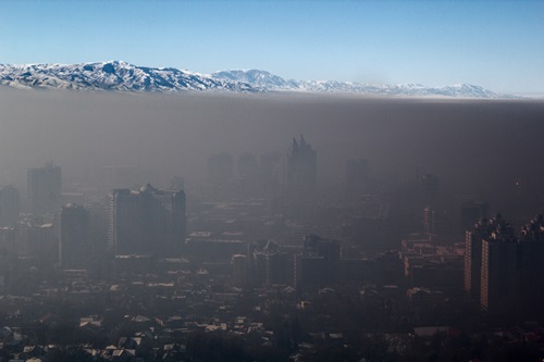 Smog over Almaty