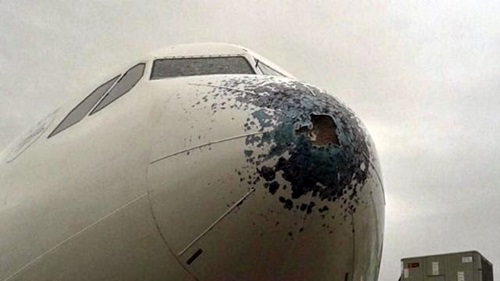 Granizo avion