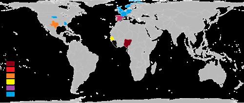 Mapa ebola