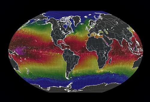 Mapa temperatura mar
