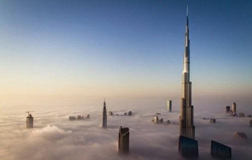 Niebla y edificios