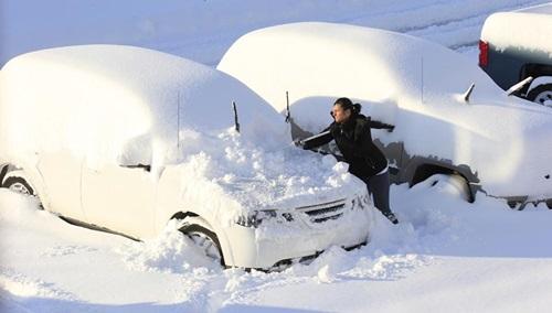 Nieve tormenta fatal
