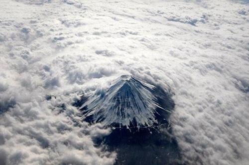 Nubosidad y el Fuji