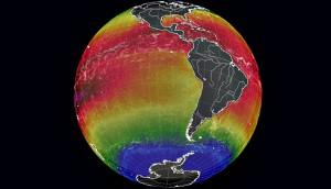 Mundo y la temperatura de los oceanos