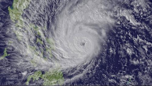 Tifon costas de Filipinas