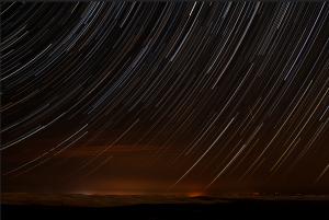 Meteoros en la noche