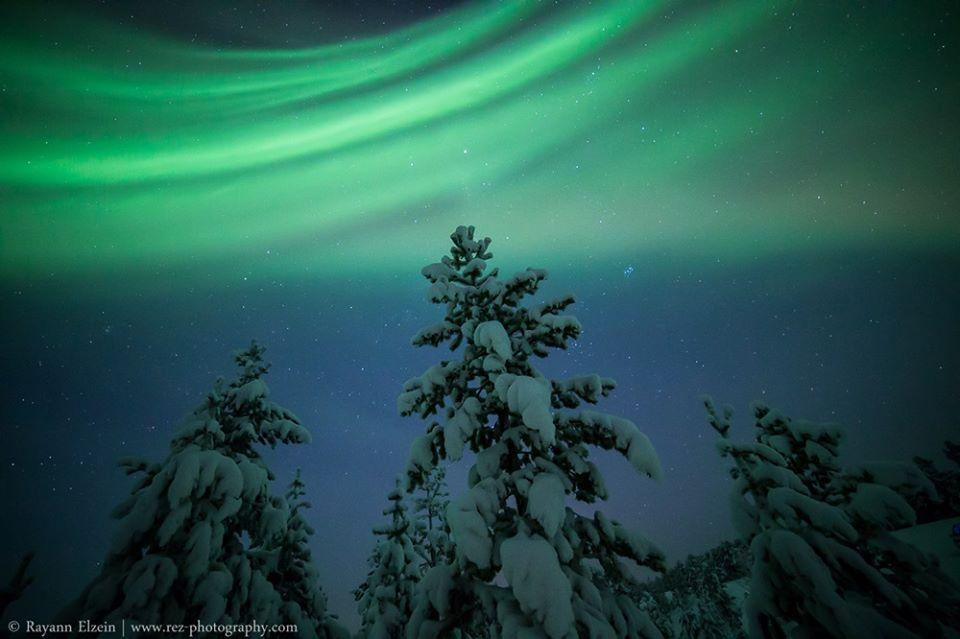 Nieve y auroras