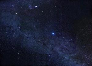 Planetas en la noche