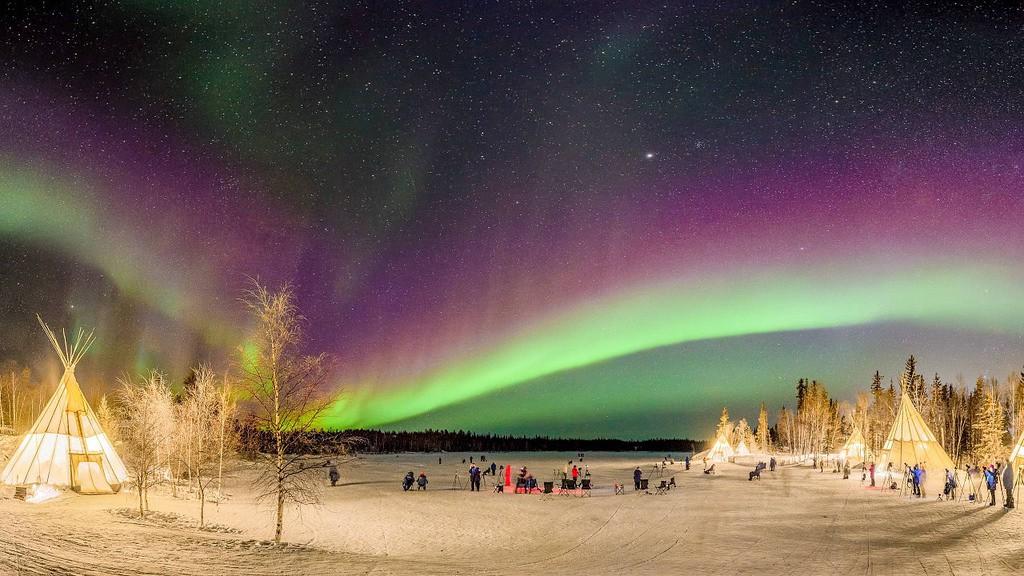 Auroras en la noche