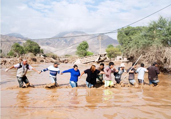 Chile inundados