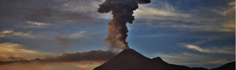 Colima erupcion