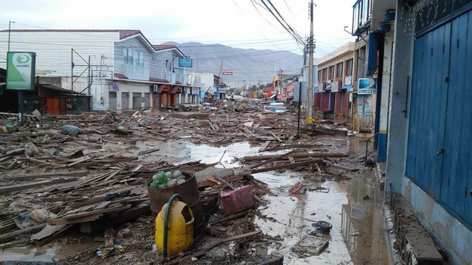 Desastre en Chile