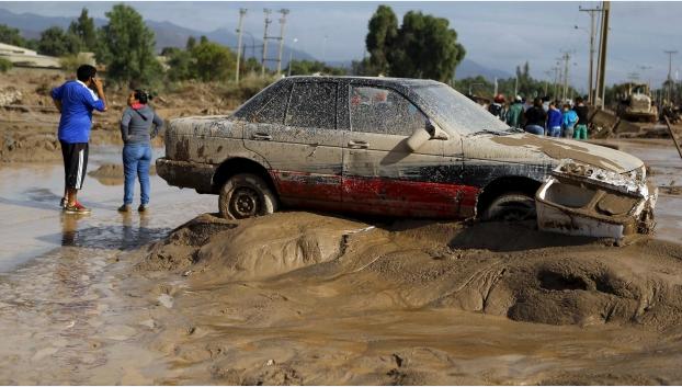 Deslizamiento en Chile