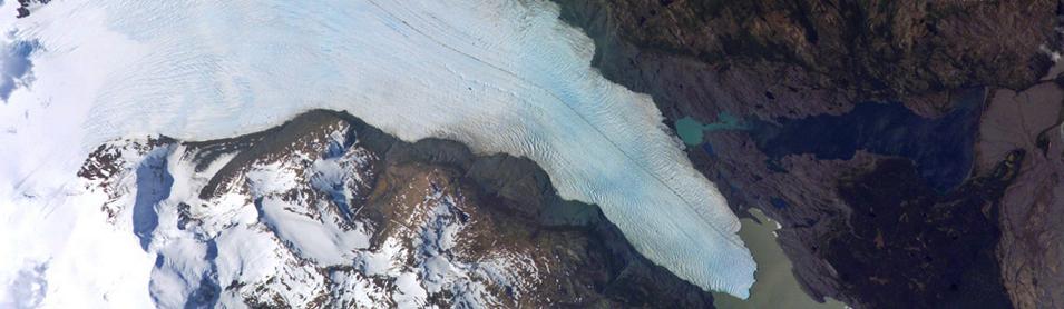 Glaciar desde el espacio