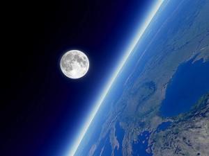Luna desde el espacio