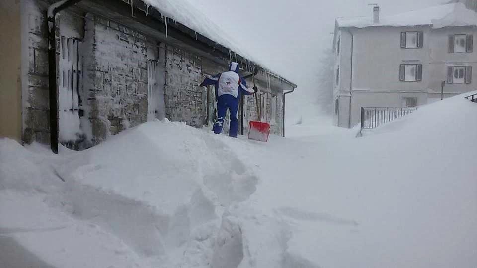 Nieve en Italia