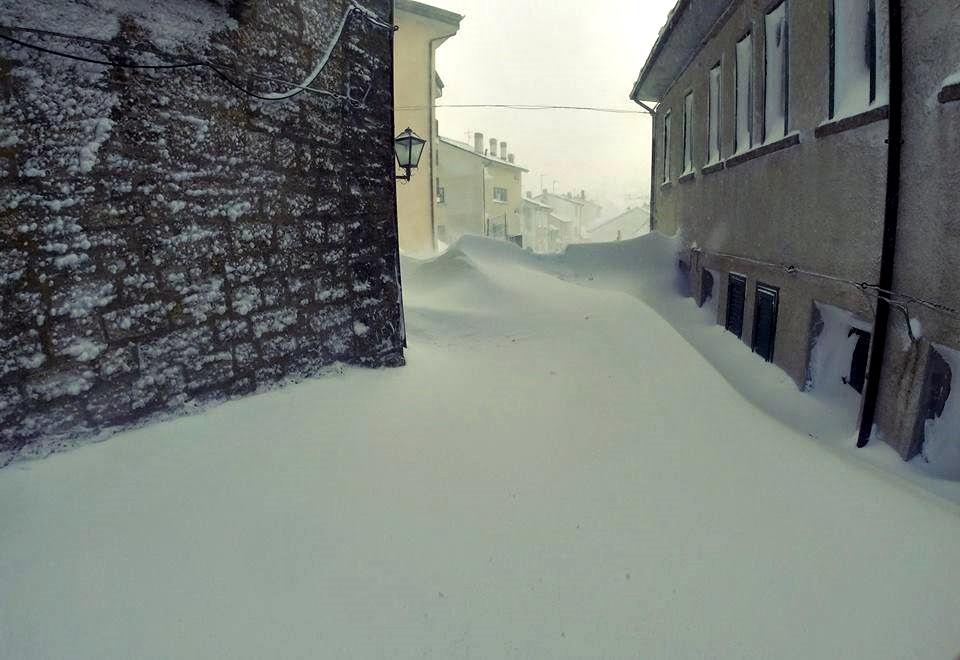 Nieve record para Italia