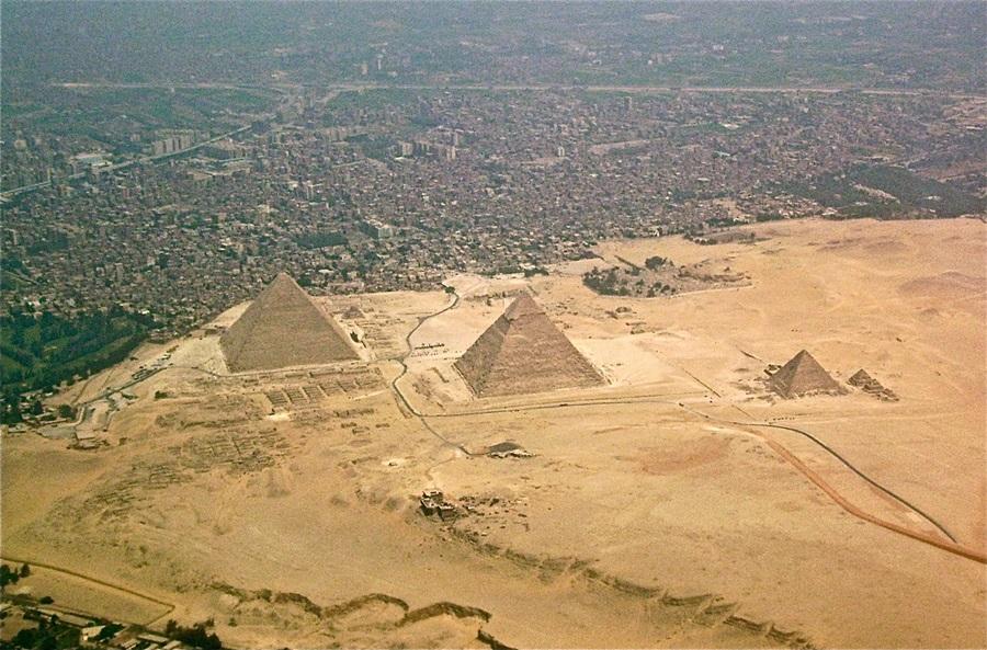Piramides desde el aire