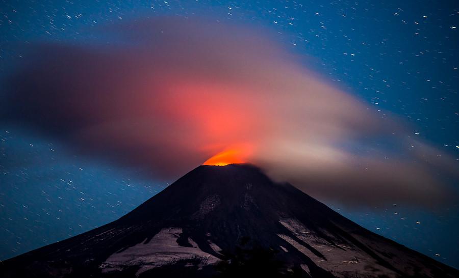 Volcan y ceniza