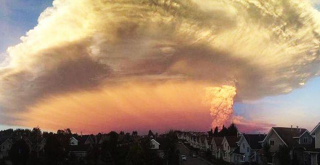 Cenizas desde el Volcan