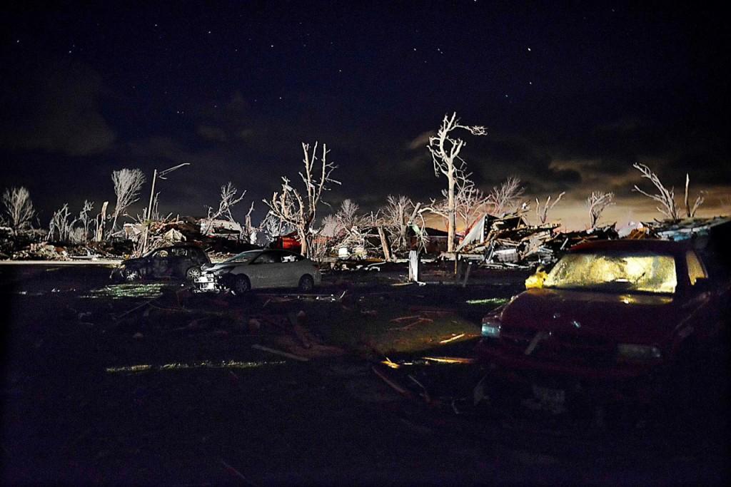 Destrozos del tornado